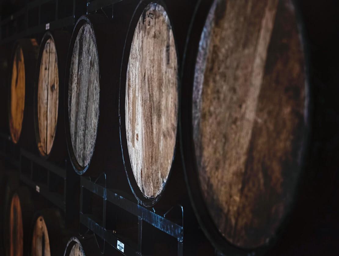 Barrels maturing