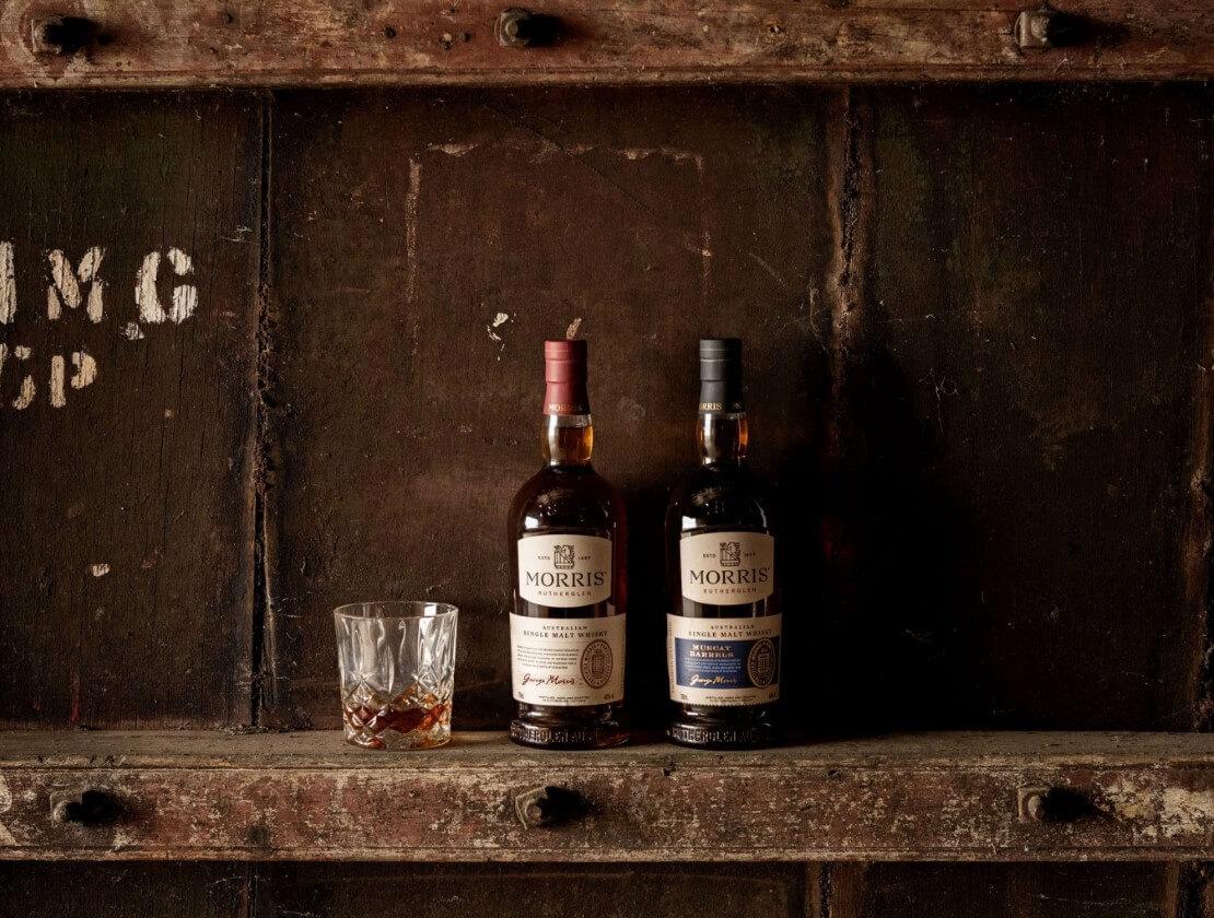 Two bottles of Morris Whisky