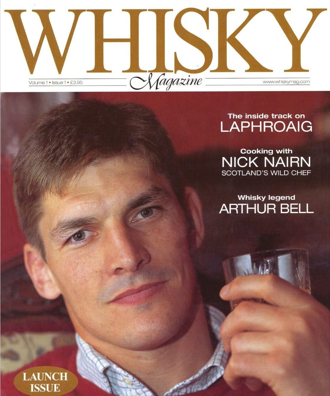 The cover of Whisky Magazine issue #1