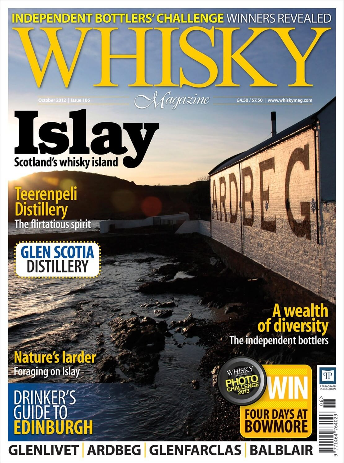 Independent Bottlers Challenge 2012 Islay Drinkers Guide Edinburgh