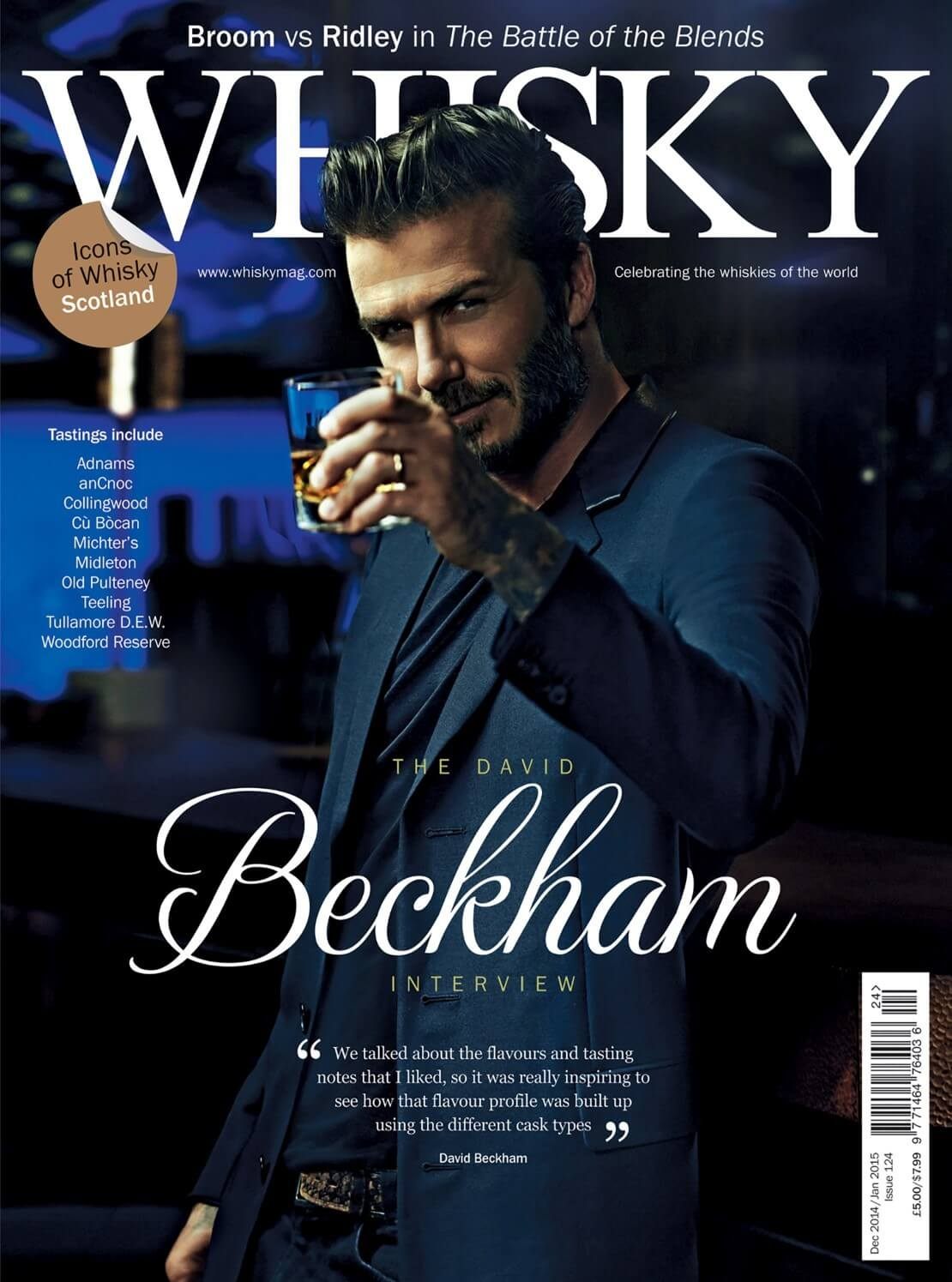 David Beckham Interview Battle of the Blends Ardbeg Distillery Japan focus