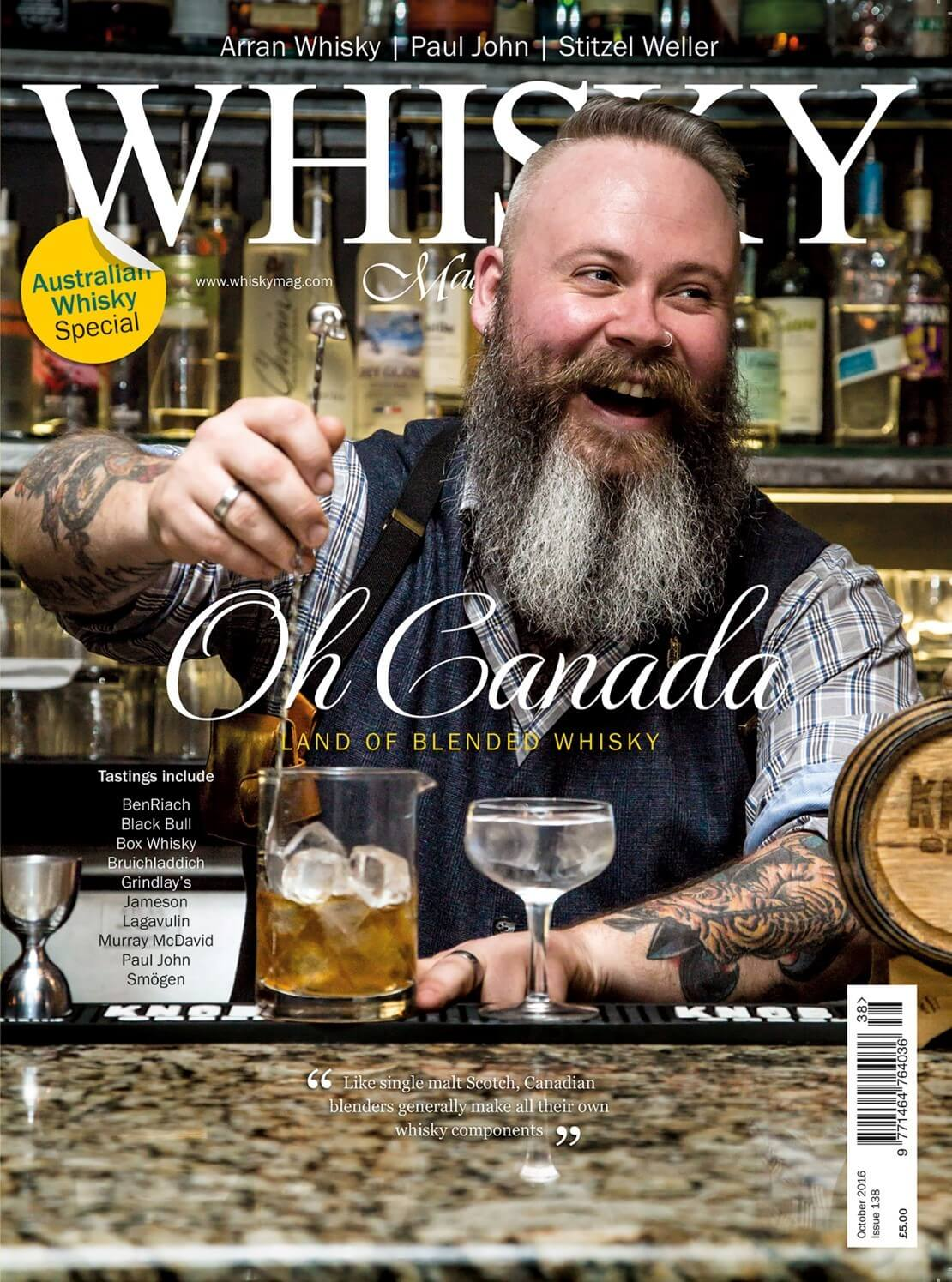 Canadian whisky and blends Arran Paul John Distillery Focus Australian whisky supplement