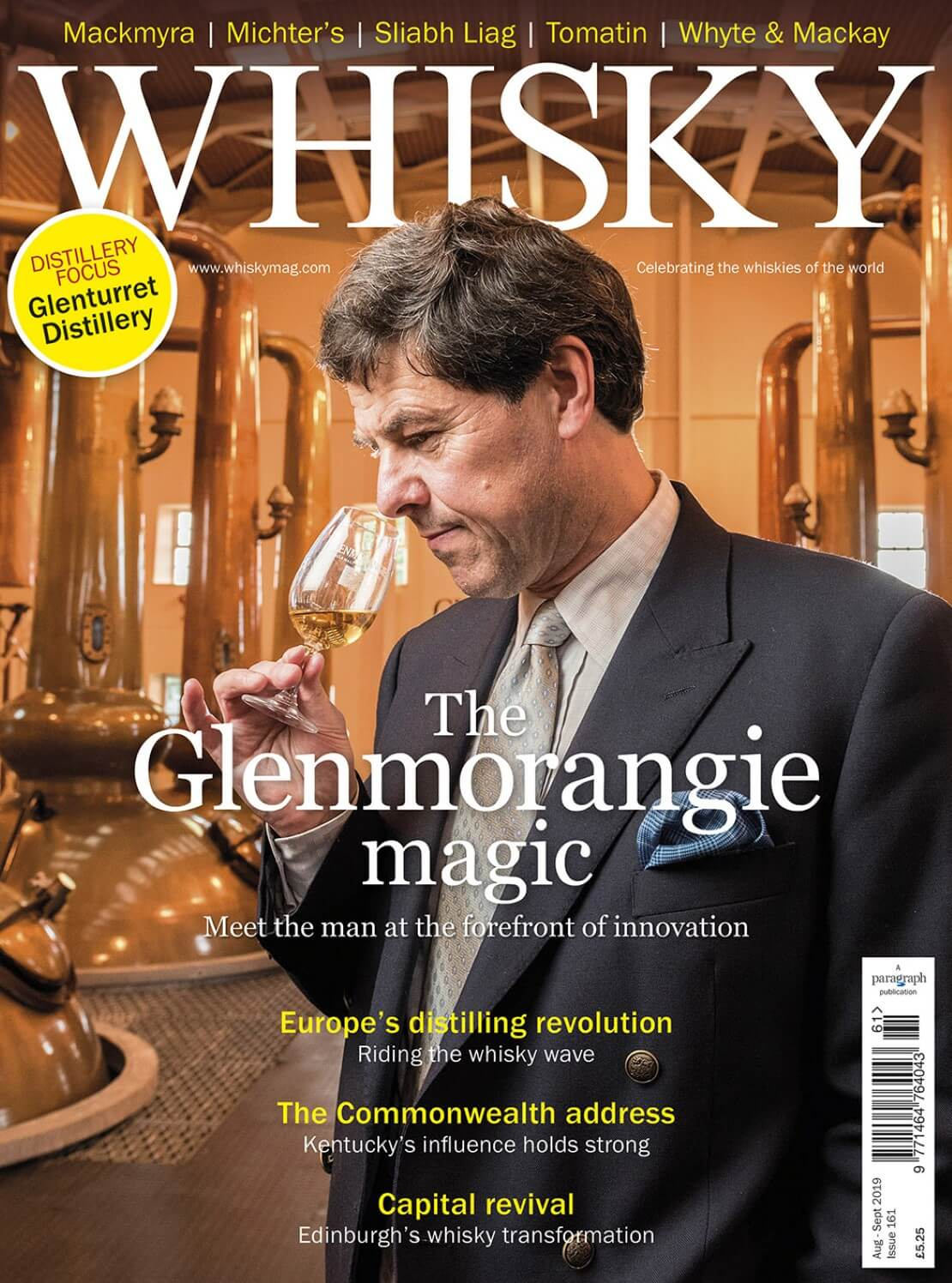 Meet Glenmorangie's Dr Bill Lumsden, Kentucky Bourbon preview, Edinburgh rising