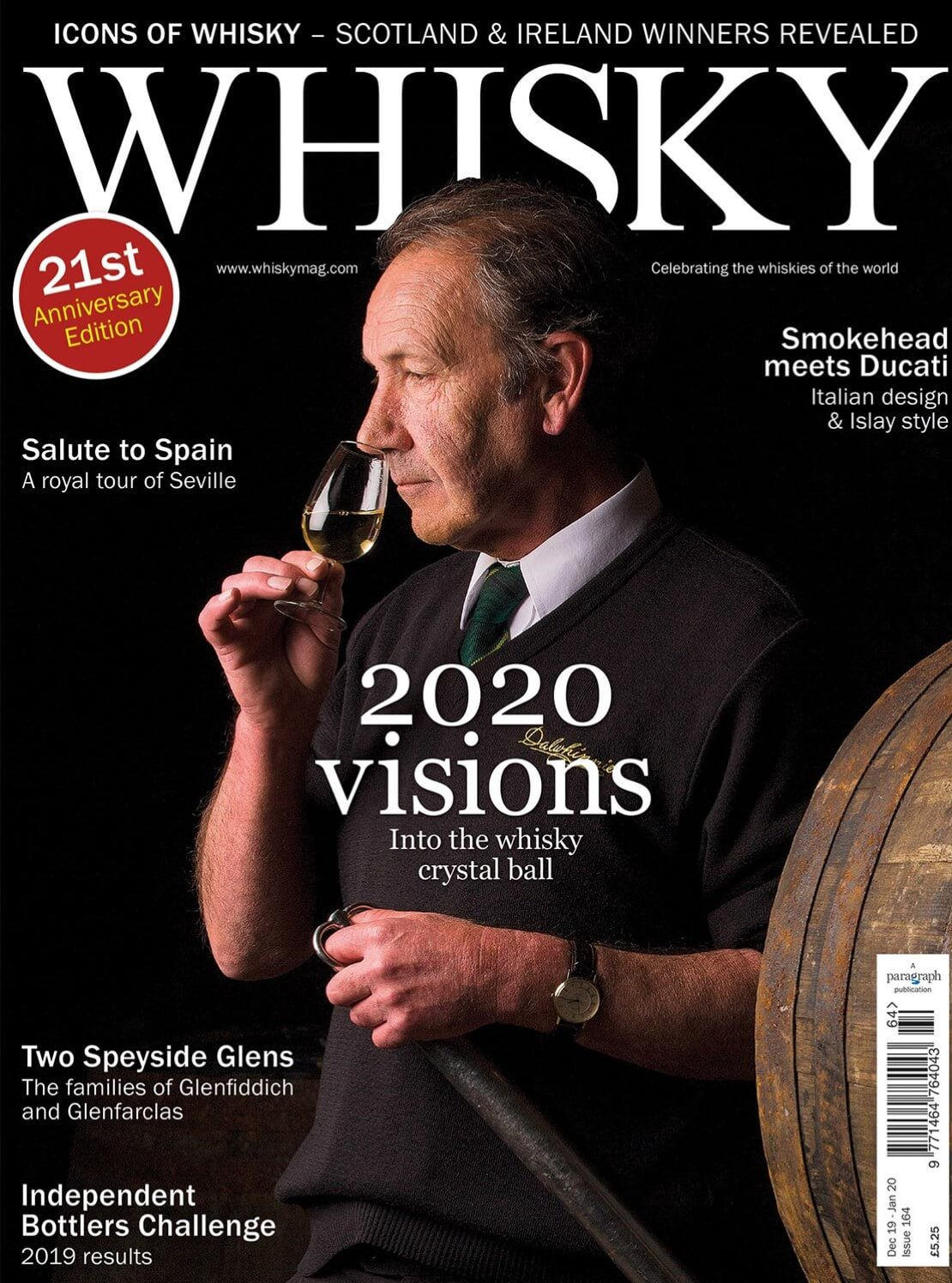 2020 visions, Smokehead x Ducati, The tale of two Glens, Distilling history