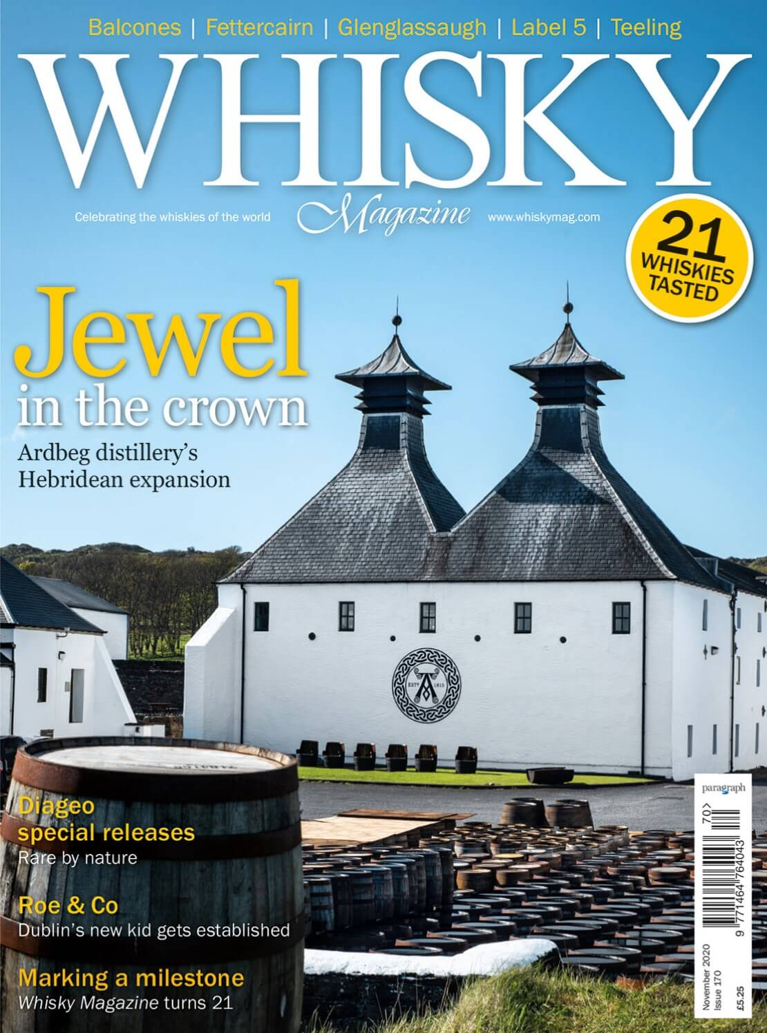 Ardbeg Distillery  Diageo's special releases  Roe & Co Whisky Magazine turns 21