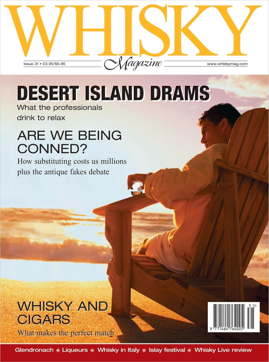 Desert Island Drams Whisky Cons Liqueurs Whisky & cigars