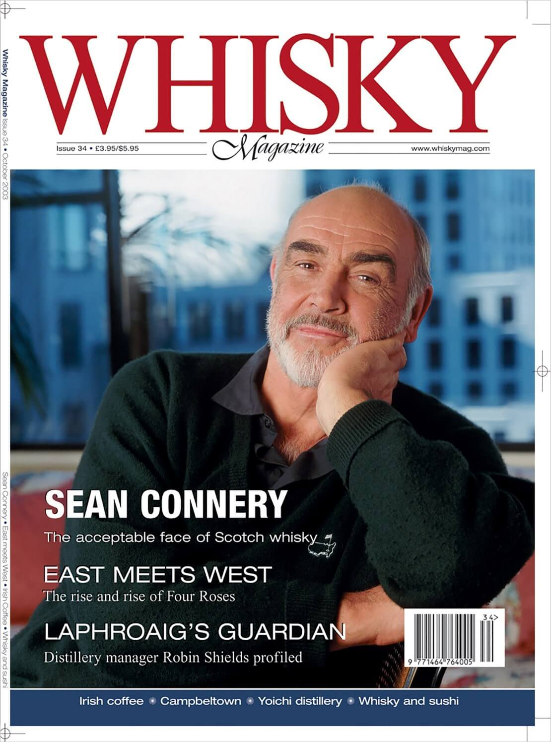 Sean Connery East meets West Irish Coffee Whisky and sushi