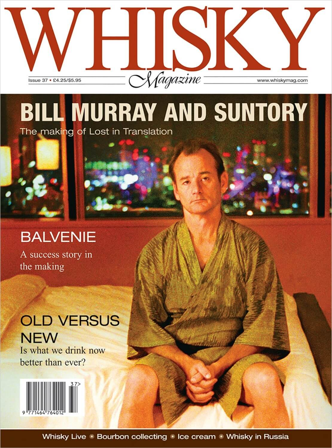 Bill Murray Whisky Live Bourbon Collecting Ice Cream Whisky in Russia