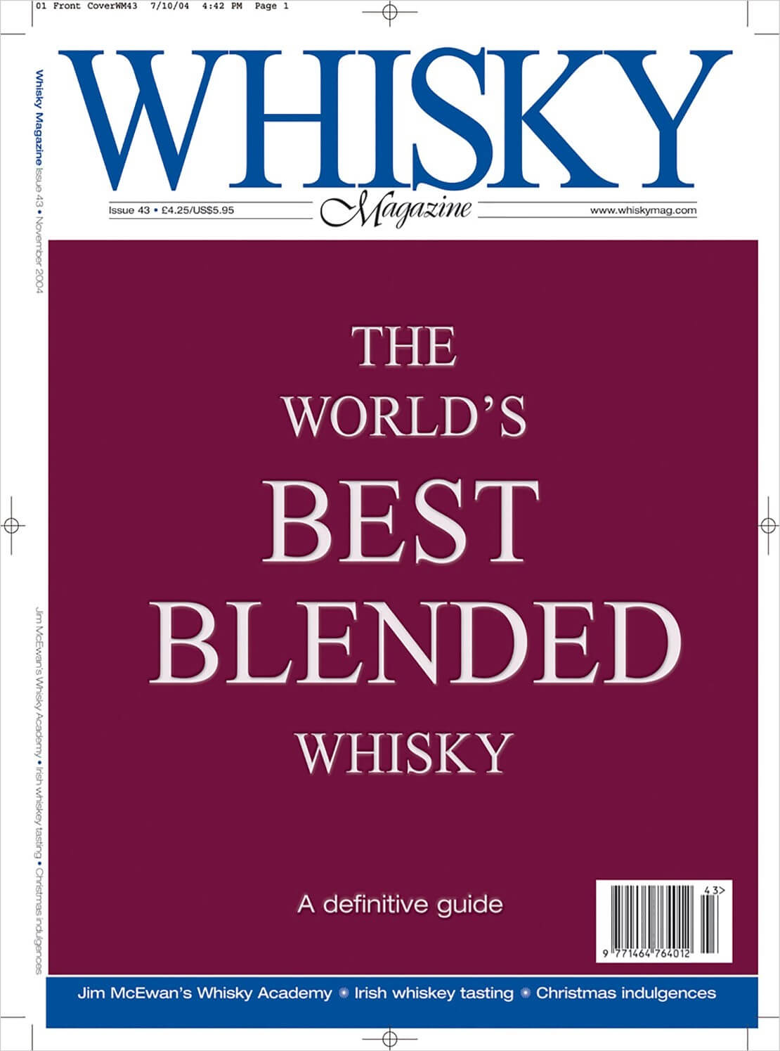 The World's best blended whisky Jim McEwans's Whisky Academy Irish whiskey tastings Christmas indulgences