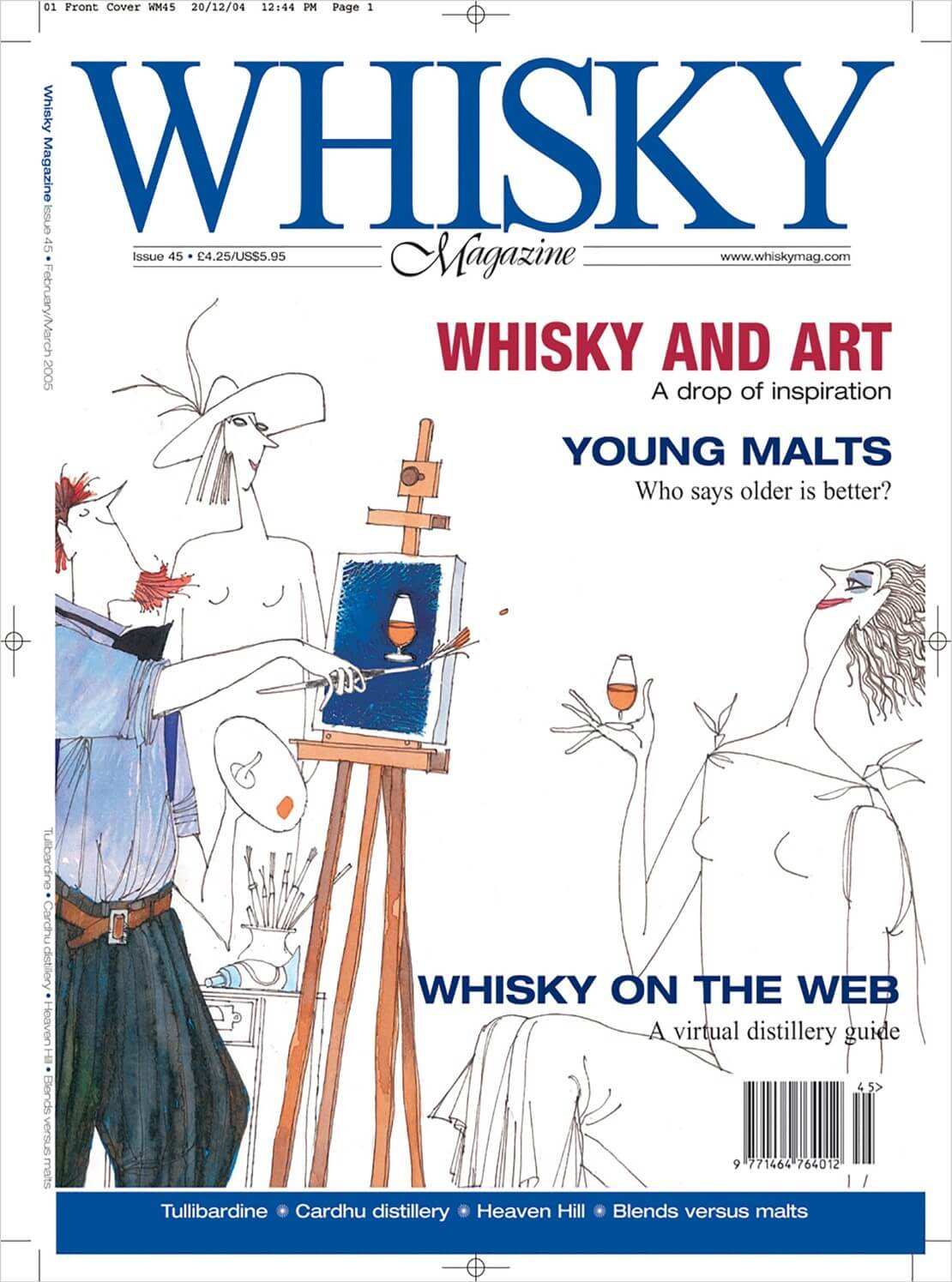 Whisky and Art Young Malts Whisky on the Web Tullibardine Cardhu Heaven Hill Blends vs Malts