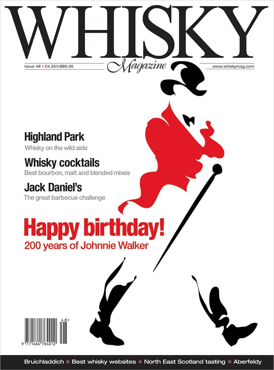 Happy Birthday Johnnie Walker Highland Park Whisky Cocktails Jack Daniel's barbecue challenge Bruichladdich Best whisky websites