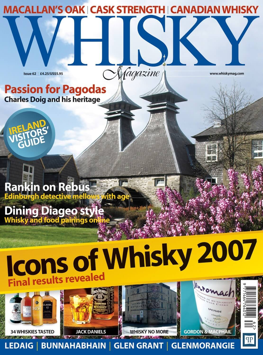 Macallan Oak Cask Strength Canadian Whisky Pagodas Rankin on Rebus Icons of Whisky 2007