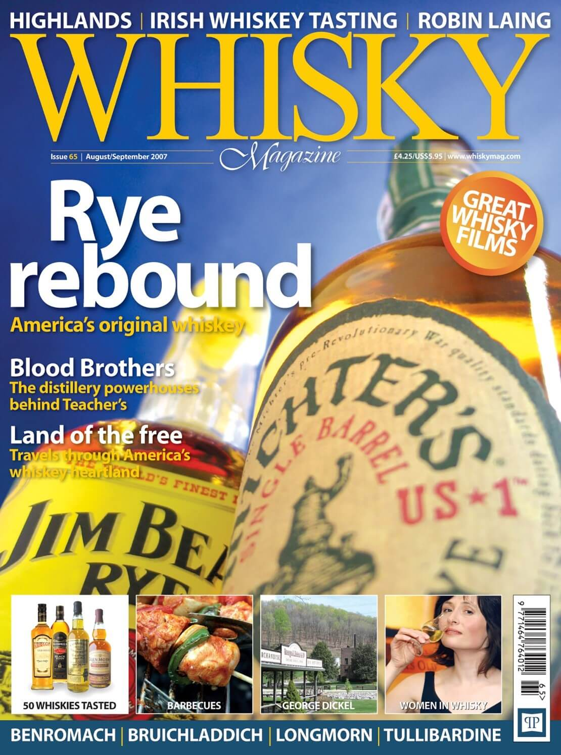 Rye rebound Blood Brothers Teacher's Americas whisky heartland Barbecues Woman in whisky