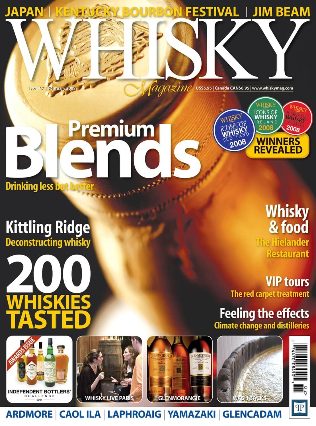 Premium Blends Kittling Ridge 200 Whiskies Tasted Icons of Whisky Whisky and Food VIP Tours...