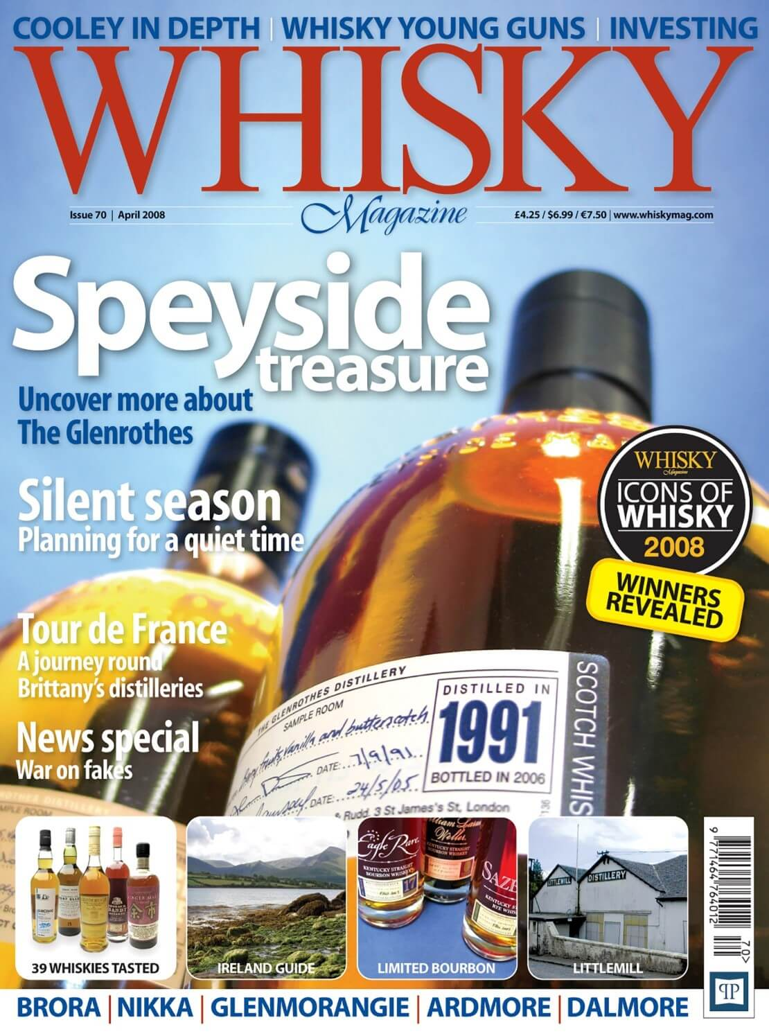 Icons of Whisky 2008 Speyside Treasures Silent Season Tour de France Ireland Guide